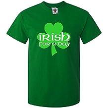 Bullshirt's Men's Irish For A Day T-Shirt. (XXL, Bottle Green)