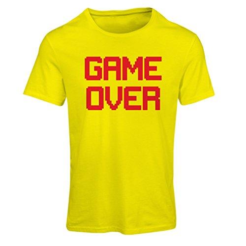 Kostüm Party Motto Sport Ideen (Frauen T-Shirt Spiel über lustige Gamergeschenke (XX-Large Gelb)