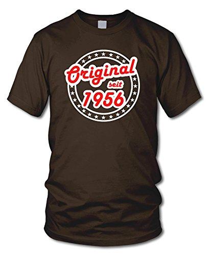 shirtloge - ORIGINAL SEIT 1956 - KULT - Geburtstags T-Shirt - in verschiedenen Farben & Größen Braun