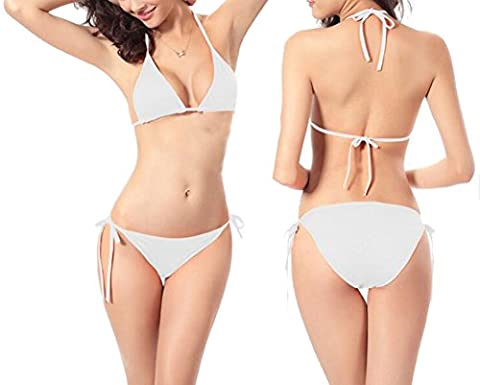 Sexy Family Candy Colors Classic Halter Neck Bikini Set Side Tie String Straps Thong Casual Holiday