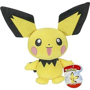 BANDAI - Pokémon-Peluche 20 cm-Pichu, WT95244
