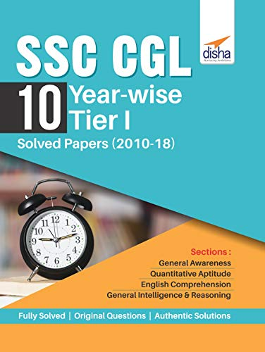 SSC CGL 10 Year-wise Tier I Solved Papers (2010-18)