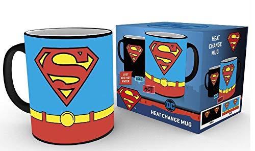 GB eye Ltd GB Eye, DC Comics, Superman Kostüm, wärmeempfindlicher Kaffeebecher, Keramik, Verschiedene, 15x 10x - Superman Verschiedenen Kostüm
