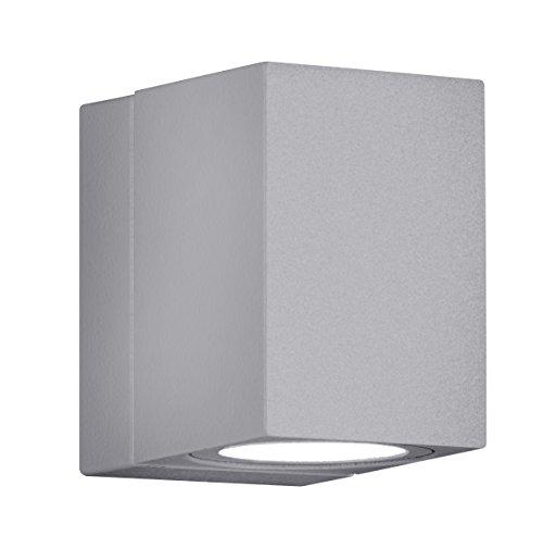 Trio Leuchten LED Außen-Wandleuchte, Aluminiumguss, inklusiv 3 x 1 W, 10 x 7 cm, um 320° schwenkbar, titan 229160187