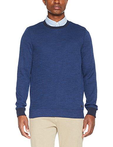 BOSS Casual Herren Sweatshirt Wolly Blau (Dark Blue 404)