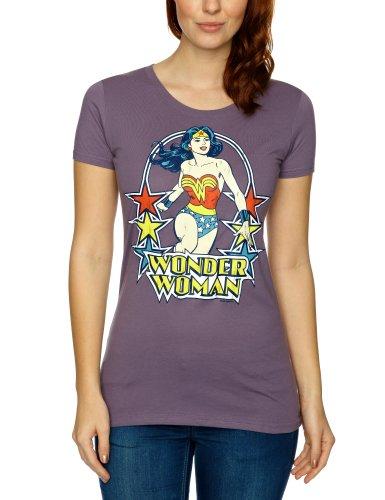 Logoshirt - Maglietta, colletto tondo, donna Viola (Lavender) L