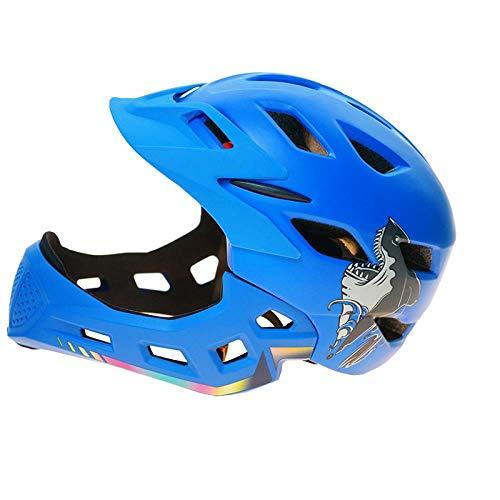 LIUDATOU Mountainbike Helm Led Light Visor Fahrrad Fahrradhelm Ski Snowboard, Blau Mit Led