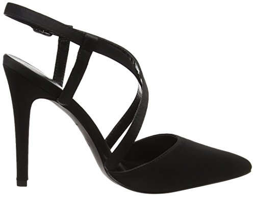 New Look Satin, Escarpins Bride Cheville Femme Noir (Black)