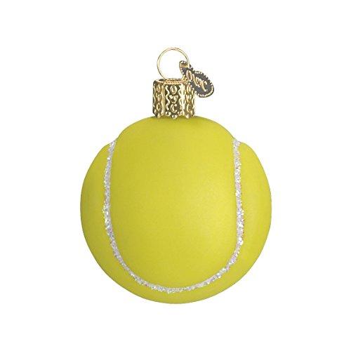 Old World Weihnachten Tennis Ball Glas geblasen Ornament