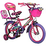 Outdoor Bikes Iron Made 4 Inches Bicycle for 2.5 to 4.5 Age Group, Pink Purple (Semi Assembled with Assembly Instruction Manual and Tool Kit)