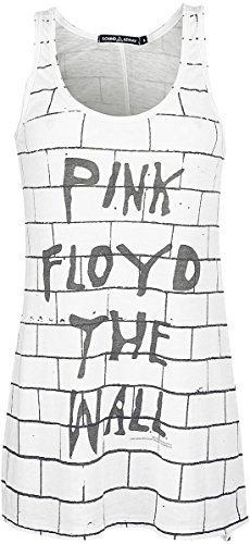 Pink Floyd The Wall Top donna bianco S