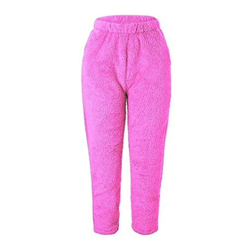 Juleya Frauen Winter Fuzzy Fleece Cozy Pyjama Hosen warme Pyjamas Homewear Plüsch Bottom Nachtwäsche - Plüsch-pyjama-hose