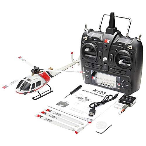 starter Helicóptero RC - Avión XK K123 6CH Escala AS350 sin escobillas RC Helicóptero RTF RC Avión