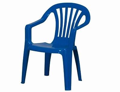 PROGARDEN Kinder-Stapelsessel 'Sedia Baby' Vollkunststoff, blau von Progarden