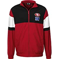 New Era San Francisco 49ers For NFL Track Jacket, Red, Lightweight, Zipped, American Football Jacket.