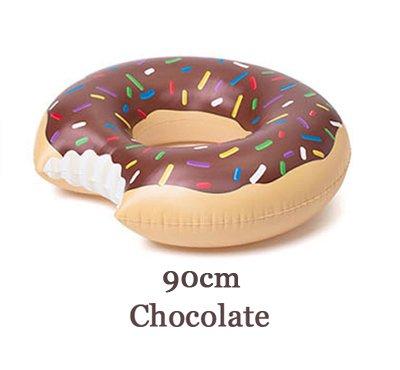 ZHANGJIANJUN riesige Brezel Pool Spaß schwimmt Aufblasbare Luftmatratze aufblasbare Kreis Ring Kickboard Wasser Boot Sommerfest Aufblasbar, Schokolade 120 cm