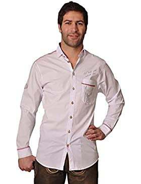 Trachtenhemd Sepp Langarm weiß OS Trachten