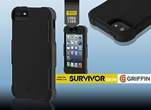 Griffin - Coque Survivor Skin iPhone 5/5S noir