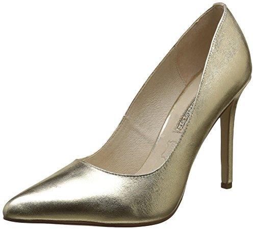 Buffalo-London-Damen-15P53-5-Mercure-Leather-Pumps-Gold-Gold-24-38-EU