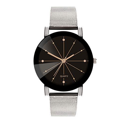 LABIUO Herrenuhr, Fashion Luxury Analog Quarz-Armbanduhr mit Edelstahlarmband(A,Einheitsgröße)