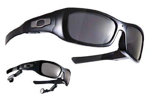 Overlook GX-24 Sonnenbrille mit integrierter Kamera und integriertem MP3-Player, Schwarz