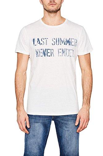 ESPRIT Herren T-Shirt 067ee2k016 Weiß (White 2 101)