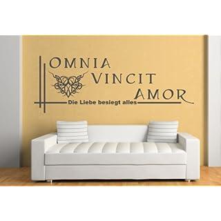 Omnia Vincit Amor (Die Liebe besiegt alles) verschieden Größen und 27 Farben (ca. 130 cm x 46 cm)