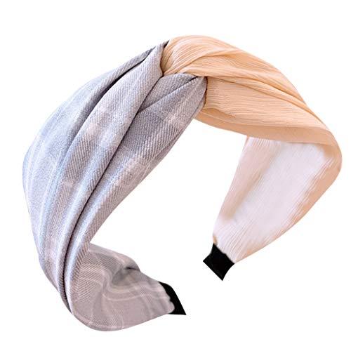 nds Blumenmuster Twist Knoten Haar Band Yoga Head Packungen Sport Elastic Turban Frauen Stirnband Stoff Haarband Kopf wickeln Haarband Zubehör ()