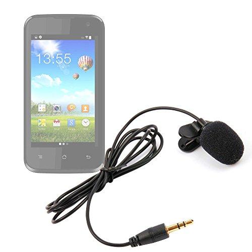 DURAGADGET Micrófono de Solapa/Clip Lavalier, omnidireccional para Smartphone ZTE Blade V8, V8...