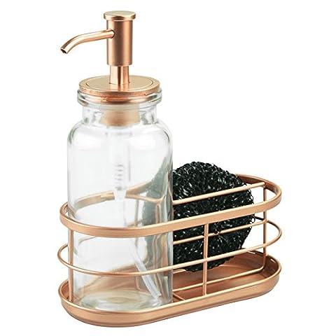InterDesign Westport Soap Dispenser Pump with Sponge/Scrubber Holder For Kitchen