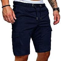 FGFD Pantaloncini Cargo Uomo Pantaloni Corti Estivi Bermuda da Shorts Uomo Casual Loose di Cotone