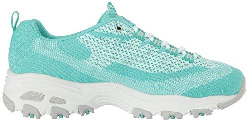 Scarpe sportive Skechers D'Lites per donna in tessuto blu Mint Knit