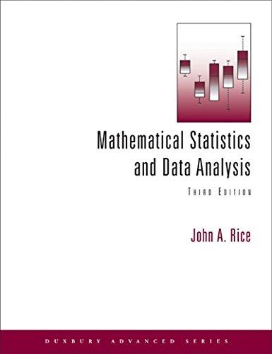 Mathematical Statistics And Data Analysis (Duxbury Advanced)