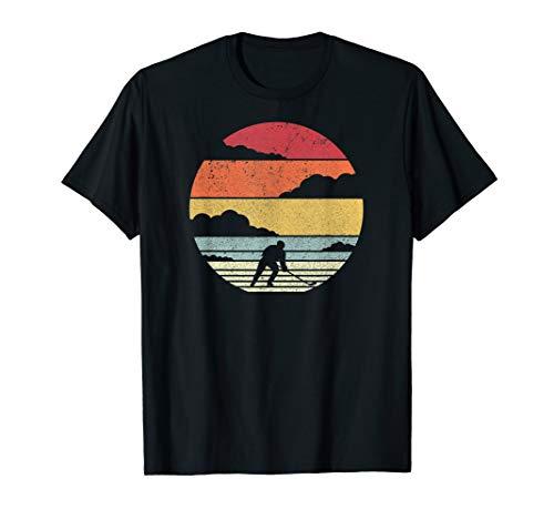 Eishockey Shirt. Jahrgang Eishockeyspieler T-Shirt. -