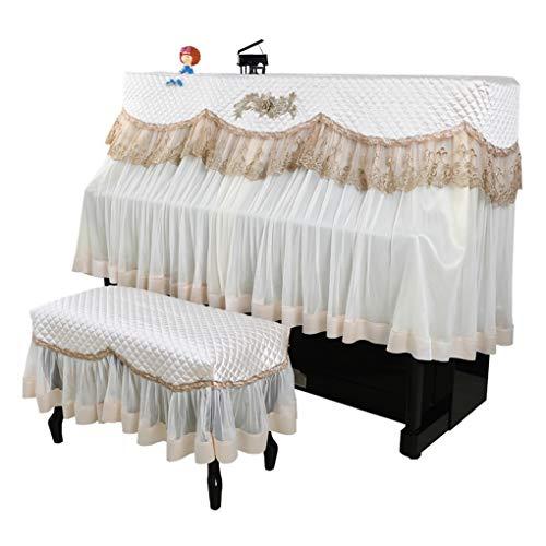 Make-up Pinsel Lace Europäisches Klavier Fall Nordic Stil halbe Abdeckung Dekorative Klavier Tuch Staubschutz (Color : Beige, Size : Single Bench)