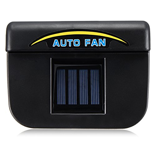 AVANI EXCHANGE Solar Powered Car Window Wind Shield Auto Air Vent Cooling Fan Radiator System -