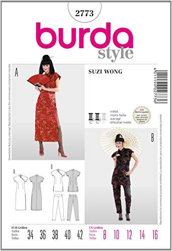 Burda B2773 Patron de Couture Suzy Wong 19 x 13 cm