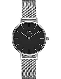 Daniel Wellington Damen-Armbanduhr Analog Quarz One Size, schwarz, silberfarben