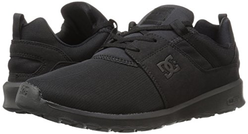 DC Heathrow Skate Shoe, Black/Grey/Green, 14 M US Black/Black/Black