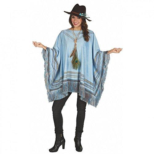 Kostüm Poncho Peru für Erwachsene - Verkleidung Mexikaner Peruaner (Kostüm Peru Von)