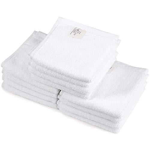 ONEDONE 12er-Pack Handtücher 30x30cm weiß, Seiftücher 100% Baumwolle Tücher