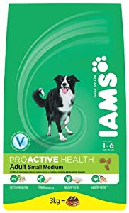 Iams Dry Dog Food Adult with Small/Medium Breed Chicken, 3 kg - Pack of 3