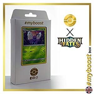 Butterfree 3/68 Holo Reverse - #myboost X Sun & Moon 11.5 Hidden Fates - Box de 10 cartas Pokémon Inglesas