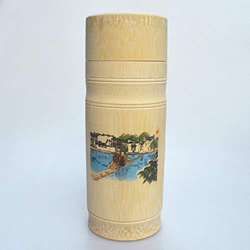 Alter Stadtplan der handgemachten natürlichen Bambusschale des grünen Tees