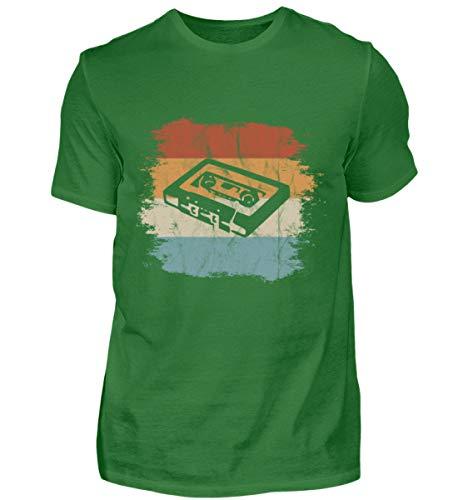 Mixtape Kassette Retro Vintage Style - Für alle, die die alte Zeit lieben und vermissen - Herren Organic Shirt -S-Kelly Green - 70er-jahre-kelly-grün