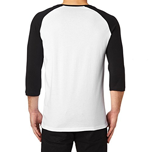 RVCA Long Sleeve T-shirts - RVCA Big Rvca Raglan Long Sleeve T-shirt - White/black White
