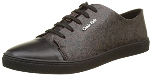 Calvin Klein Hamilton Iconogram, Baskets Basses Femme, Multicolore (Chocolate/Black), 39 EU