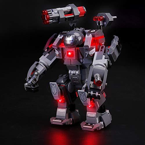 LIGHTAILING Conjunto de Luces (Super Heroes Depredador de Máquina de Guerra) Modelo de Construcción de Bloques - Kit de luz LED Compatible con Lego 76124 (NO Incluido en el Modelo)