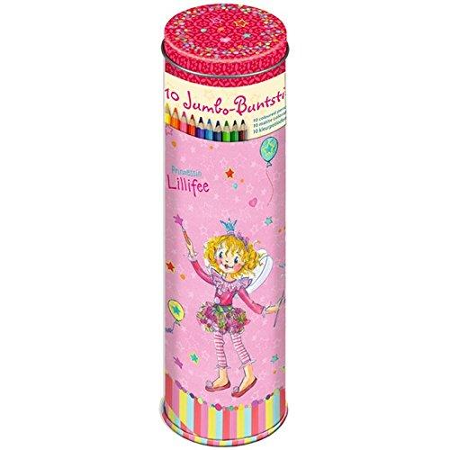Buntstift-Dose Prinzessin Lillifee (10 Jumbo-Buntstifte)