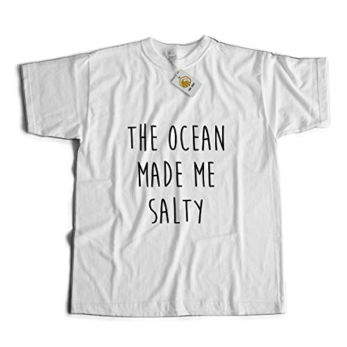 9f2344e5 The Ocean Made Me Salty T Shirt Gift for Nurse Camiseta Unisex Blanco XXL